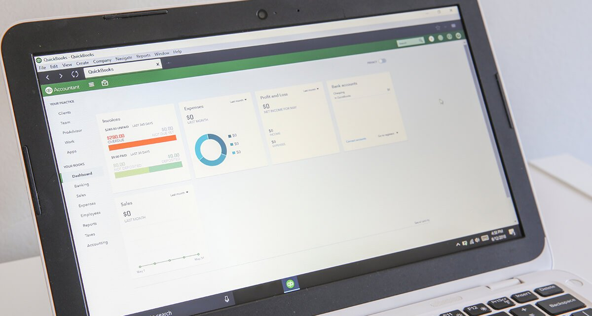 screenshot of quickbooks app